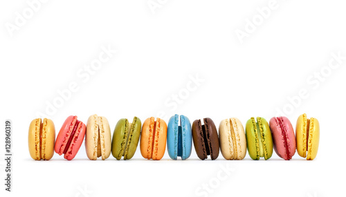 Foto op Canvas Macarons bunte frische Macarons, isoliert