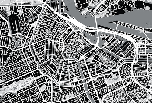 Obrazy Amsterdam  mapa-miasta-amsterdamu