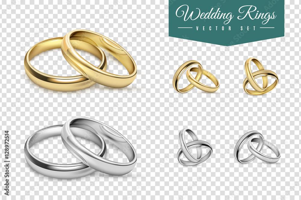 Fototapety, obrazy: Wedding Rings Set