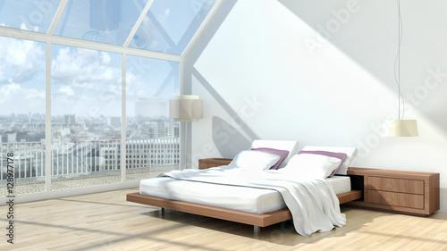 Camera da letto moderna – kaufen Sie diese Illustration und ...