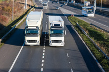 Road Transport - Two Lorries D...