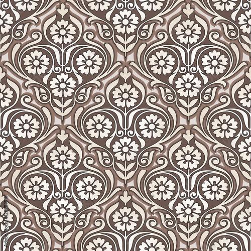 Seamless golden flower wallpaper design - Buy this stock vector and