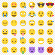 Vector Flat Emoticon Big Set