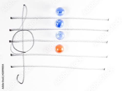 The series of chord diagram, Am7 - Buy this stock photo and explore ...