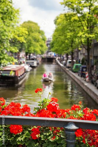 Valokuvatapetti Amsterdam canal view