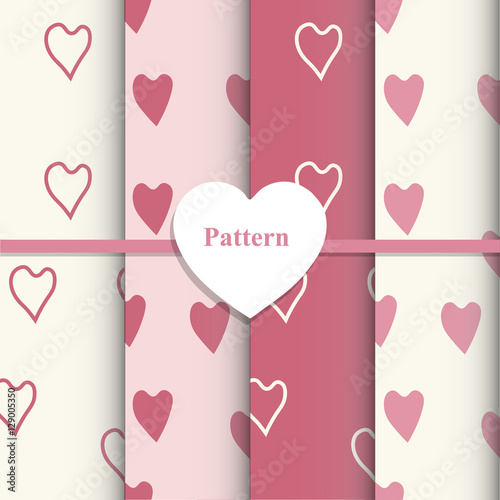 Photo  Template vector set of Valentine's day