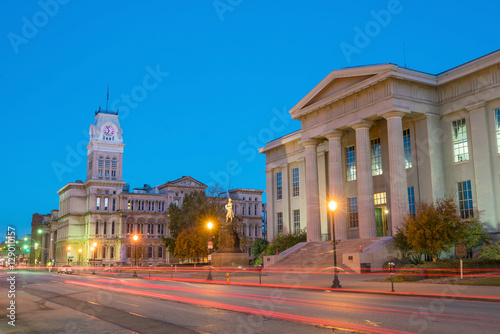Stampa su Tela The old City Hall  in downtown Louisville
