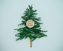Christmas Tree Made From Pine ...