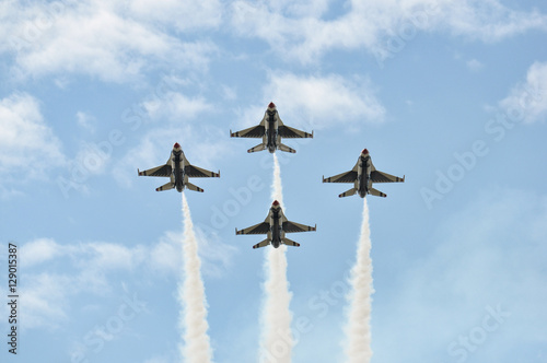 Photo USAF Fighter Planes in Diamond Formation
