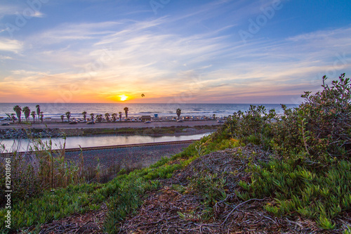 Cardiff by the sea sunset  North County San Diego Wallpaper Mural