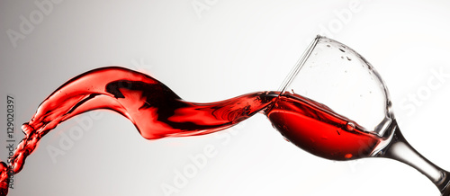 Poster Alcohol Red wine splash