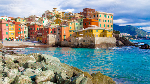 Fotografia  Boccadasse, a district of Genoa in Italy