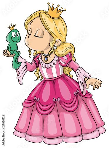 Fotografie, Obraz  Vektor Illustration einer niedlichen Prinzessin