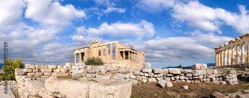 Poster Ruine The Acropolis of Athens, panoramia with Erechtheion and Partheno
