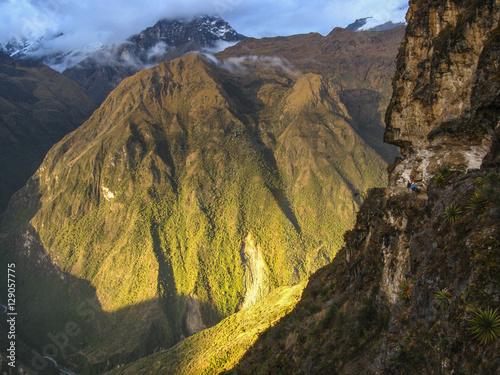 Spoed Foto op Canvas Grijze traf. Choquequirao Trail to Yanama, Peru