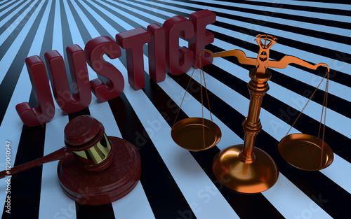 Valokuva  Justice text, Libra and judges gavel