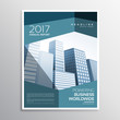 abstract business leaflet or brochure template design with geome