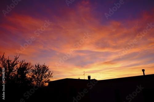Foto op Plexiglas Crimson sunset in italy