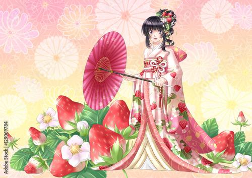 ilustracja stylu japońskim anime manga