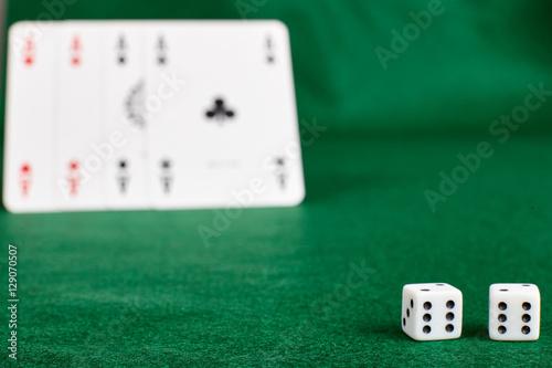 Foto  Concept of gambling.