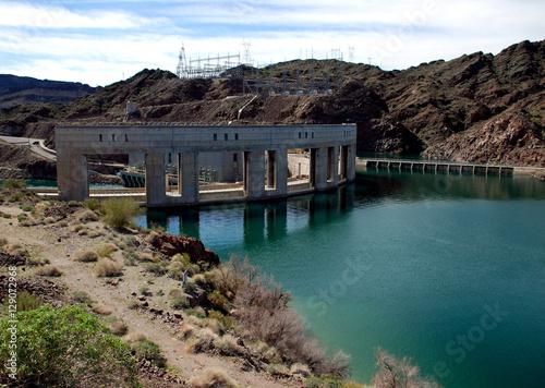 Fotografie, Obraz  Parker Dam on the border of California and Arizona, Lake Havasu and Colorado riv