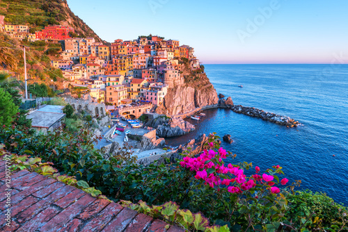 Foto op Canvas Pool manarola