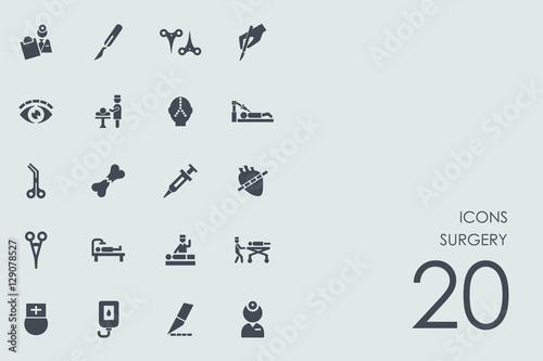 Fotografía  Set of surgery icons