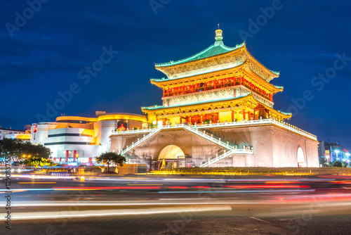 Staande foto Xian Xian bell tower