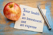 canvas print picture - Your health is an investment