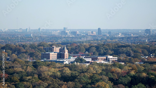 Plakat Widok z lotu ptaka Atlanta przedmieścia