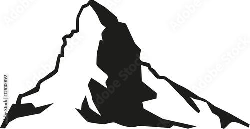 Fotografie, Obraz  Matterhorn mountain silhouette
