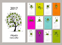 Funny Frogs, Calendar 2017 Design