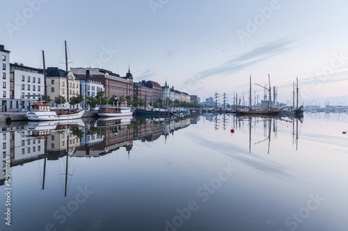 Canvas Print Helsinki embankment, Finland