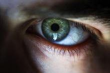Man Macro Green Eyes From Lack Of Sleep Veins