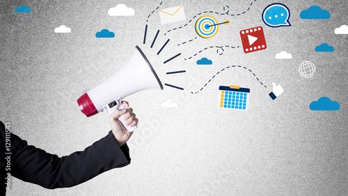 Fotografía  Digital marketing concept