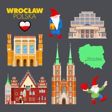 Wroclaw Poland Travel Doodle W...