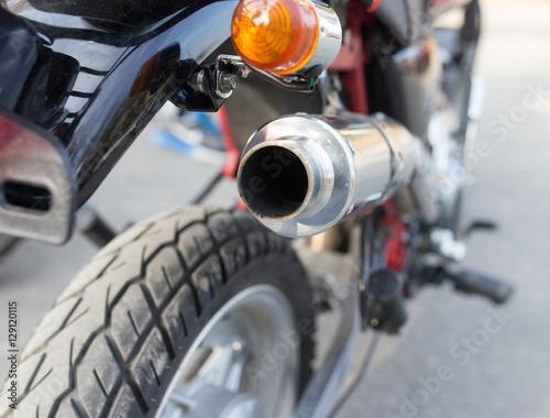 Details on motorbike Billede på lærred