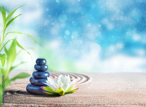 Foto op Plexiglas Stenen in het Zand Oriental stones therapy
