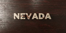 Nevada - Grungy Wooden Headline On Maple  - 3D Rendered Royalty Free Stock Image. This Image Can Be Used For An Online Website Banner Ad Or A Print Postcard.