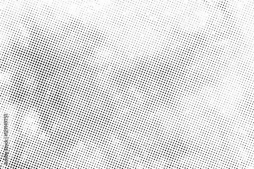 Fotografie, Obraz  aged newspaper halftone abstract dotted background and texture