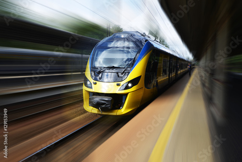 Canvas Print Modern train