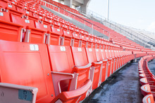 Empty Orange Seats At Stadium,...