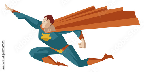 superhero flying Tablou Canvas