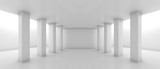 Fototapeta Perspektywa 3d - Abstract wide corridor perspective with columns