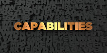 Capabilities - Gold Text On Bl...