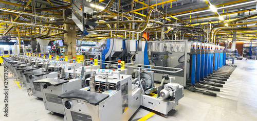 Obraz printing shop industry interieurs - machines for transport and packaging - fototapety do salonu