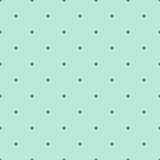 Mint Green Seamless Pattern z Brown Polka Dots - 129177738