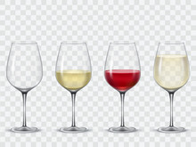 Set Transparent Vector Wine Gl...