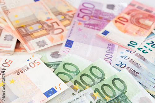 Fotografía  Banknotes of the european union
