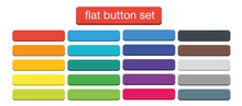Flat Web Buttons Set Vector Is...